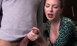 AUNTIE MAKES NEPHEW CUM - more video on WWW.BILLIONCAM.COM