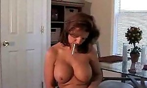MILF blowing and smoking