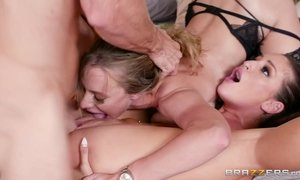 Anya Olsen is being licked by girlfriend and fucked by dude
