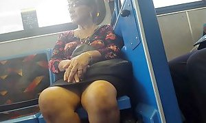 Milf legs on bus