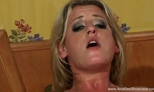 Blonde Housewife Deep Anal Sex
