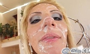 Cum For Cover Gia is waiting for her cum shower
