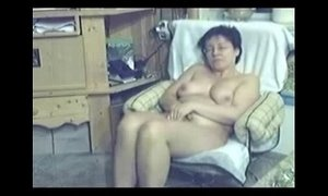 My mum home alone caught masturbating by my hidden cam